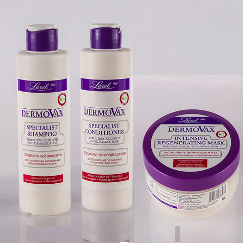 Dermovax  Specialist Colored & Damaged Hair Combo (Shampoo & Conditioner, Mask)