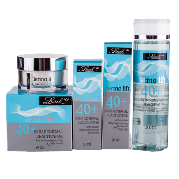 DERMO LIFT 40+ Face & Eye care Combo ( day - night Creams & micellar water)