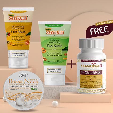 OSYPURE SKIN CARE SPECIAL COMBO - FREE GLUTATHIONE SUPPLEMENT
