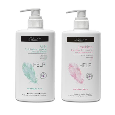 Help Intimate Hygiene wash Gel & Emulsion For Women Combo (with Aloe & Licorice)