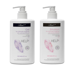 Help Intimate Hygiene wash gel & Emulsion for Women Combo (with Oak Bark & licorice)