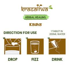 Krasaliwa Herbal Healing Kadha – 13 Herbs for complete immunity support – 20 effervescent tablets.