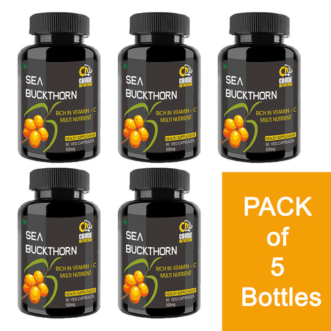Sea Buckthorn Rich in Vitamin C Multinutrient 500Mg - 60 Vegan Capsules
