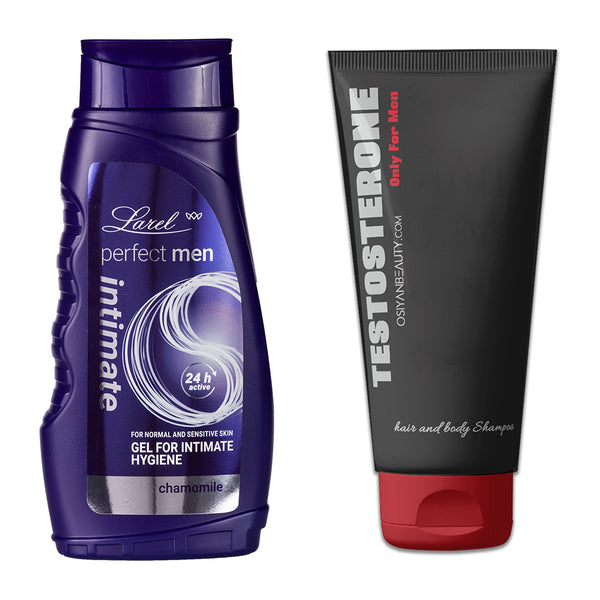 Perfect Men Intimate Hygiene wash & Testosterone Hair & Body wash Combo