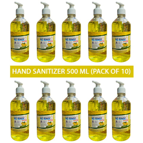 No Rinse Hand Sanitizer 500 ML  Gel Based with Pump