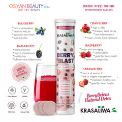 KRASALIWA BERRY BLAST FRESH NATURAL INSTANT DETOX DRINK- EFFERVESCENT TABLETS