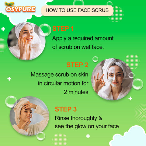 OSYPURE NATURAL FACE WASH & SCRUB COMBO