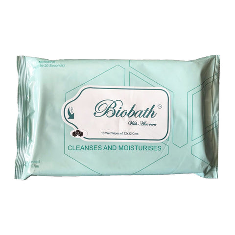 Biobath with aloe vera Pack of 1 (10 tissues) (32x32cms)