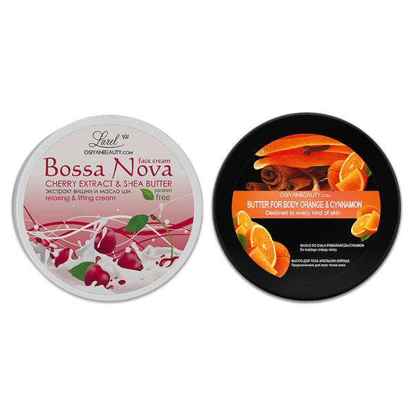Face Cream & Body Butter Combo (Cherry Extract & Orange and Cinnamon)