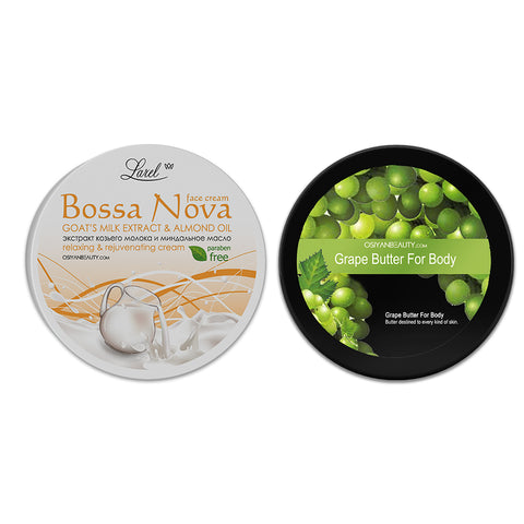 Face Cream & Body Butter Combo ( Goat's Milk & Grape)