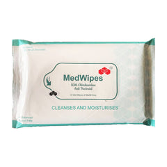 Anti Bacterial MedWipes (Pack of 1) 10 Tissues (32x32cms)