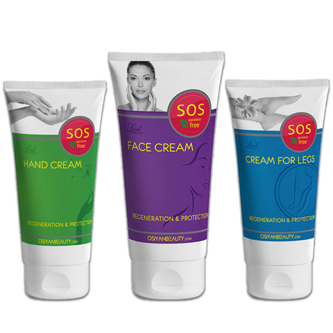SOS Q10 Face, Hand & Foot regnerating Combo (Creams)