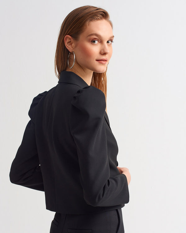 Crop Jacket - Black