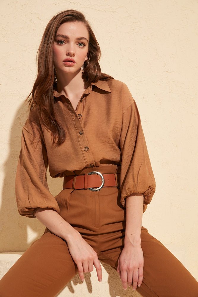 Basic Blouse - Camel