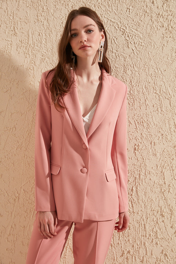 Button Detailed Jacket - Pink