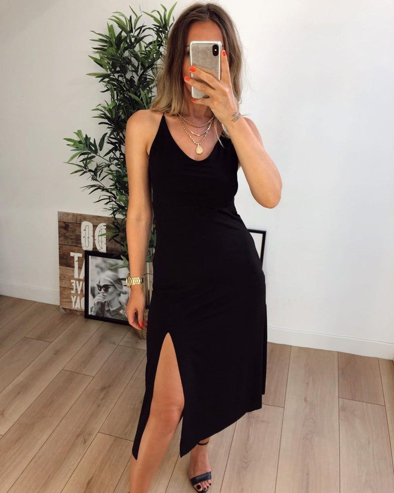 Slit Dress - Black