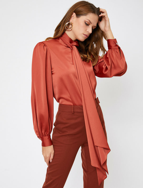 Blouse - Brick Red