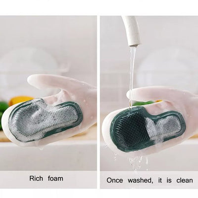 New Silicon Dishwashing Gloves