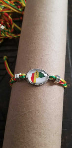 Shambala style Adjustable Rasta colors Africa bracelet
