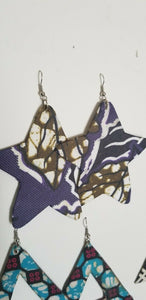 African Earrings Fabric Handmade with Tribal Ankara/waxprint 2pairs $8
