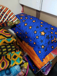 African Wax Print Ankara Throw Pillow Sofa Couch Pillow Cover/one Each