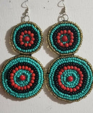 Load image into Gallery viewer, Bold And Beautiful Beaded Earrings $12