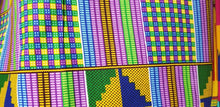 Load image into Gallery viewer, Kente Print African Wax Print 100% Cotton Fabric ~3 yds $18