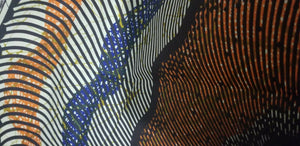 "Mustard multi African Print 100% Cotton Fabric ~Fabric 70""(1yd&34"")×45""~$10"