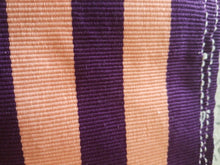 "Load image into Gallery viewer, FasoDafani Fabric From Boukina Faso~peach with purple stripes 58""(1yd&22"")×16"""