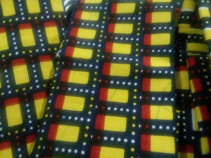 "Yellow Cube Designs Multi African Print 37""×16""~$5"