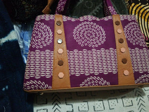 African print Wax Hand Bag, Handbag multicolor