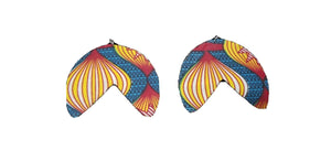 Handmade African Print Fabric Earrings Ethnic Tribal Cloth Statement $6