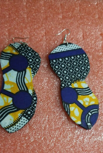 African Earrings Fabric Handmade with Tribal Ankara/waxprint 2pairs $10