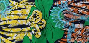 Green Multi Color African Print. Lace over Print Design ..$12.50 per yard