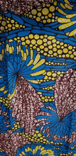 Load image into Gallery viewer, African Print Beautiful Blue & Yellow Multi /ankara/ntama.2 yards $13.25