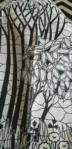 Black  And White AFRICAN PRINT 5 yards ~2 yards ~ $10