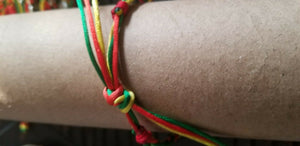 Rasta Braided Bracelet -   Bracelets/Anklets - New $3.50 each
