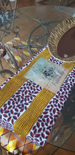 Load image into Gallery viewer, Blue Multi African Print fabric 100% cotton 6 yards