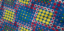 "Load image into Gallery viewer, Fun Bubble Circle African Print Fabric 64""×46""~$12"