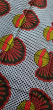 Load image into Gallery viewer, MULTICOLOR African Print 100% Cotton (snails ~fruitful)3yrds ×(44 in.) ~$15.25