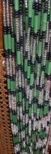 Load image into Gallery viewer, African waist beads Green& white translucent Dazzling ~ very Long