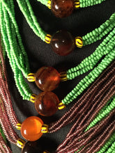 Load image into Gallery viewer, Assorted Mali Multi Strand African Beaded Necklace~check Description