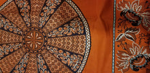 Load image into Gallery viewer, African Print With OrangeBackground And Bold Circular Motif Details 4yards