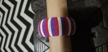 Load image into Gallery viewer, Hand Woven African Zulu  Beaded  Bangle~ multi ( $12 ea)