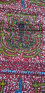 MULTICOLOR African Print 100% Cotton (turtle~reselience)3yrds ×(44 in.) ~$15.25