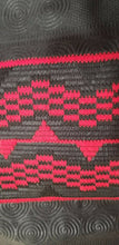 Load image into Gallery viewer, DESIGNER AFRICAN PRINT IN BLACK & RED with ADINKRA MOTIFS ~ 2yds