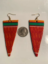 Load image into Gallery viewer, African Earrings Fabric Handmade with Tribal Ankara/waxprint 3pairs $15