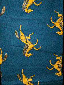 MULTICOLOR African Wax Print 100% Cotton Fabric (44 in.)
