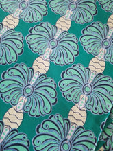 "Load image into Gallery viewer, High fashion Green MULTI African  Print 100% Cotton Fabric ~2 yds×23""  $11.50"