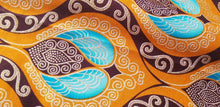Load image into Gallery viewer, High fashion  African  Print Orange Multi 100% Cotton Fabric ~70×24
